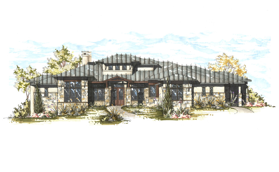 Caliterra Hill Country Contemporary Dripping Springs Custom Home